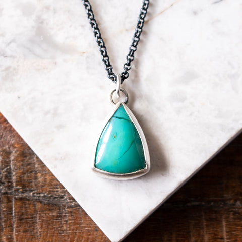 Peruvian Chrysocolla in Chalcedony Necklace
