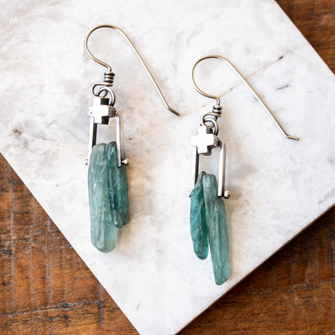 Apatite Sticks and Pluses Earrings no.2