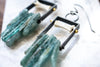 Raw Apatite Sticks Earrings