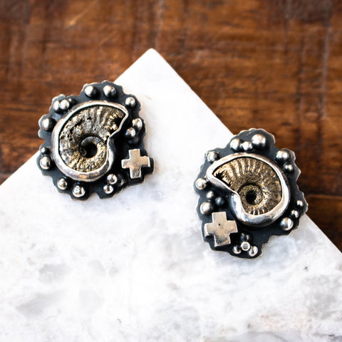 Pyritized Ammonite Studs