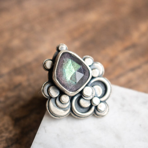 Size 7 | Labradorite Infinite Ring