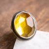 Size 7.5 | Faceted Amber Oval Ring