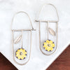 Yellow Daisies Hoop Earrings