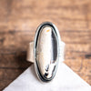 Size 7.5 | White Buffalo Two Tone Ring