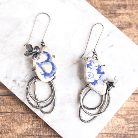 Shattered Pottery Earrings