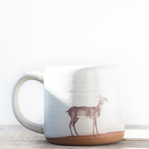 Deer Coffee Mug | Oatmeal