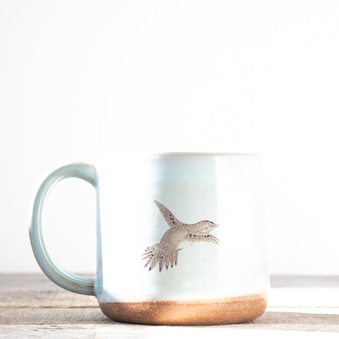Hummingbird Coffee Mug | Light Blue