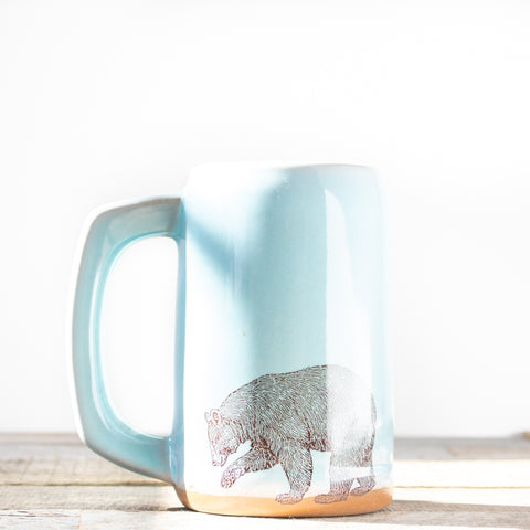 Bear Stein | Light Blue