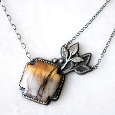 Jasper Leaves Necklace - Artisan's Bench