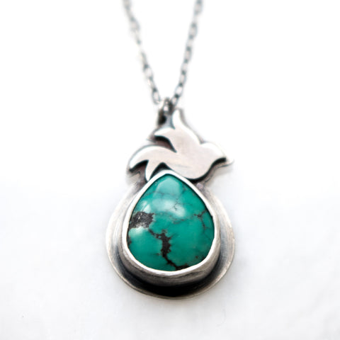 Flight Turquoise + Bird Necklace