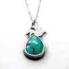 Flight Turquoise + Bird Necklace - Artisan's Bench