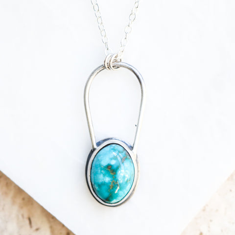 Carico Lake Turquoise Arch Necklace
