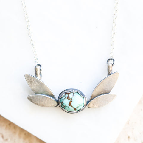 Turquoise & Leaf Garden Necklace