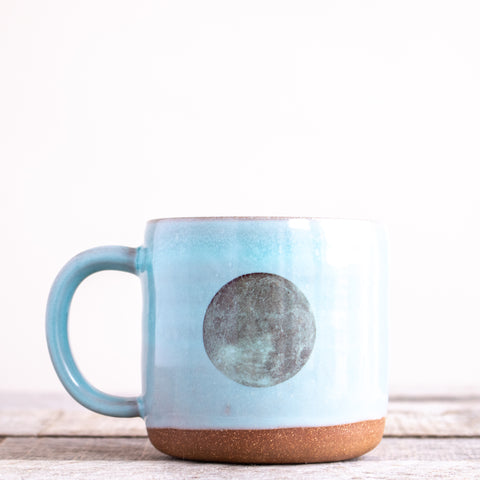 Full Moon Coffee Mug | Light Blue