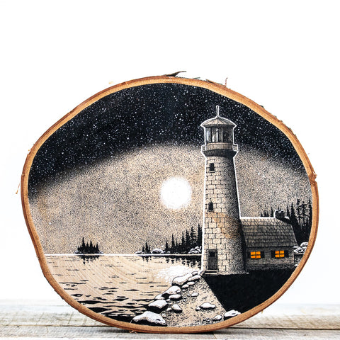 Lighthouse Point | Drawing on Wood