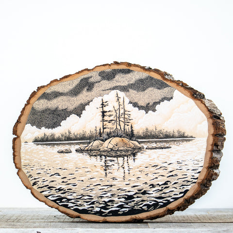 Georgian Bay Island | Drawing on Wood