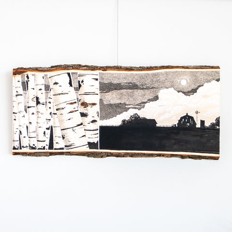 Birch Farm | Drawing on Wood
