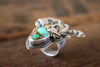 Size 8 | Turquoise Garden Flight Ring - Artisan's Bench