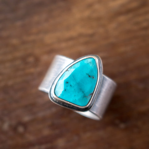 Size 6 | Faceted Turquoise Ring - Artisan's Bench
