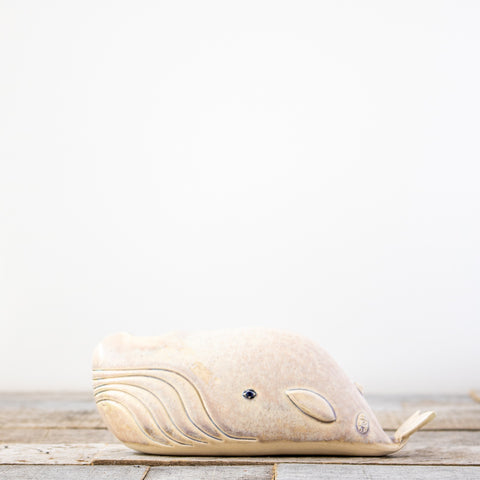 Ceramic Whale Vase (Multiple Color Options)