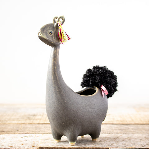 Ceramic Llama Planter (Multiple Colors)