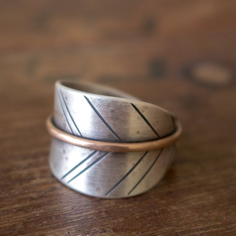 Size 8 | Choose Kindness Bronze Leaf Ring - Artisan's Bench