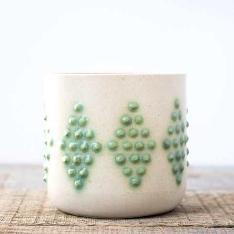 Diamond Turquoise Planter | Small
