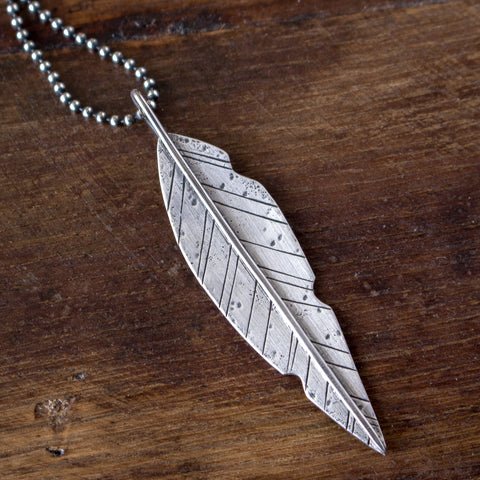 'Warrior' Silver Leaf Pendant - Artisan's Bench