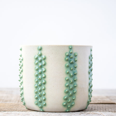 Strata Turquoise Planter | Medium