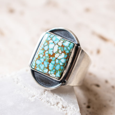 Size 8.5 | no.8 Turquoise Small Signet Ring