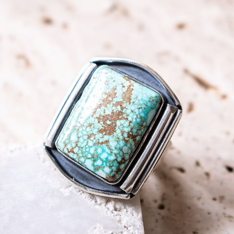 Size 8 | no.8 Turquoise Statement Ring
