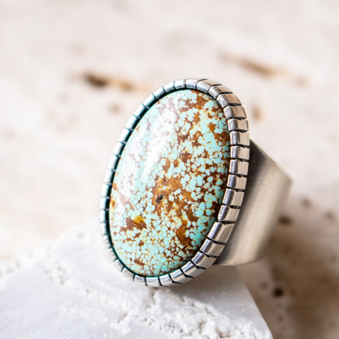 Size 8 | no.8 Turquoise Signet Ring