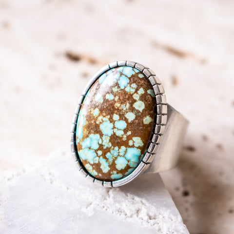Size 8 | no.8 Turquoise Signet Ring no. 2