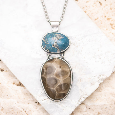 Sea Siren Petoskey & Leland Blue Necklace