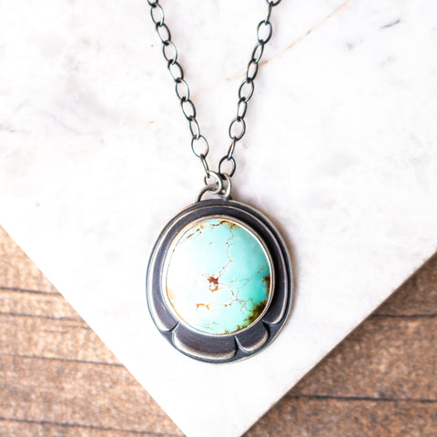 Royston Turquoise Pinecone Necklace