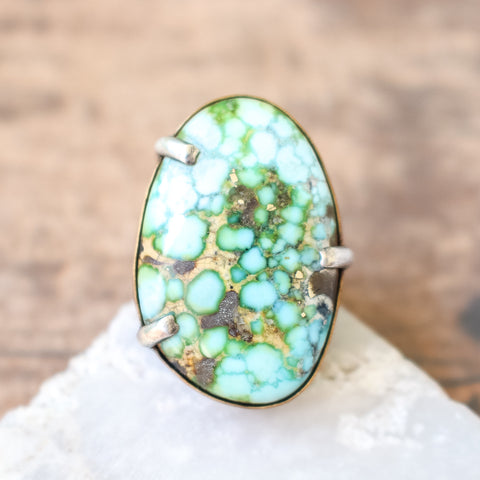 Size 9 | Sonoran Gold Turquoise Ring