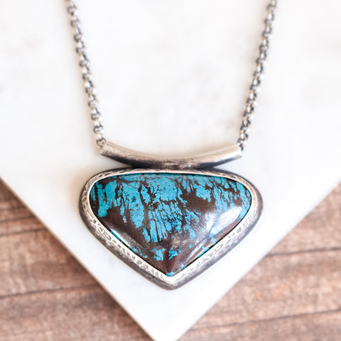 Shattuckite Triangle Necklace