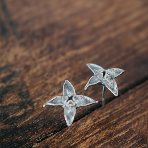 Mock Orange Blossom Studs - Artisan's Bench