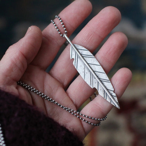 Warrior Feather Necklace