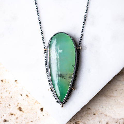 Aquaprase Teardrop Necklace