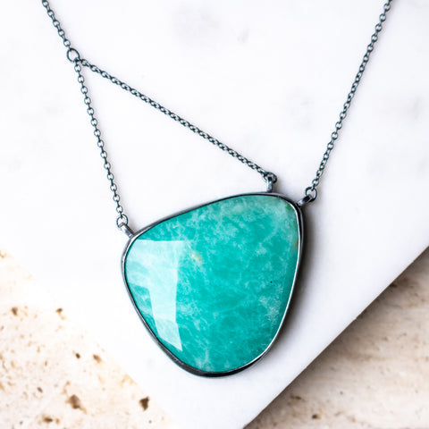 Amazonite Suspension Necklace