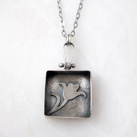Tulip Shadowbox Necklace - Artisan's Bench