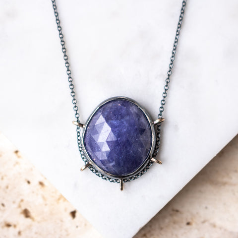 Tanzanite High Dome Necklace