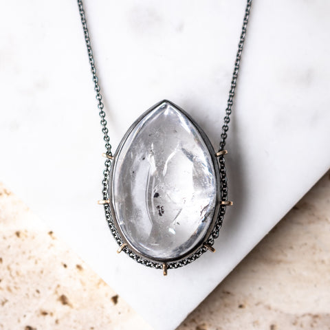 Carbon Quartz Necklace
