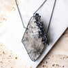 Selenite + Cast Seedhead Necklace