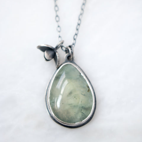 Prehnite Sprout #1 Necklace - Artisan's Bench