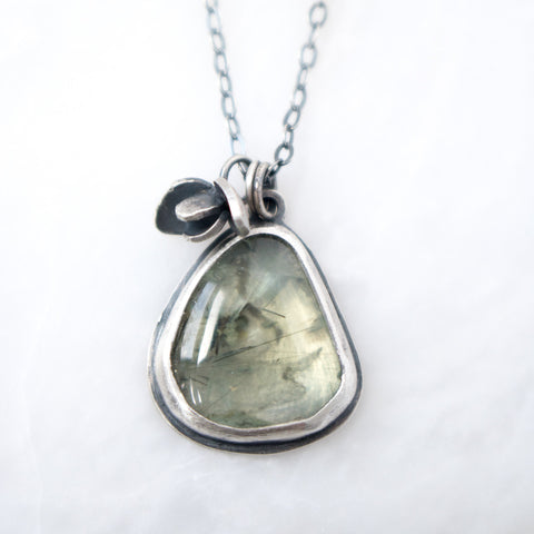 Prehnite Sprout #2 Necklace - Artisan's Bench