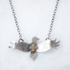 Silver + Gold Bird Necklace - Artisan's Bench