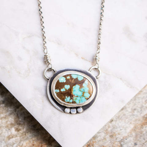 No. 8 Horizontal Turquoise Necklace