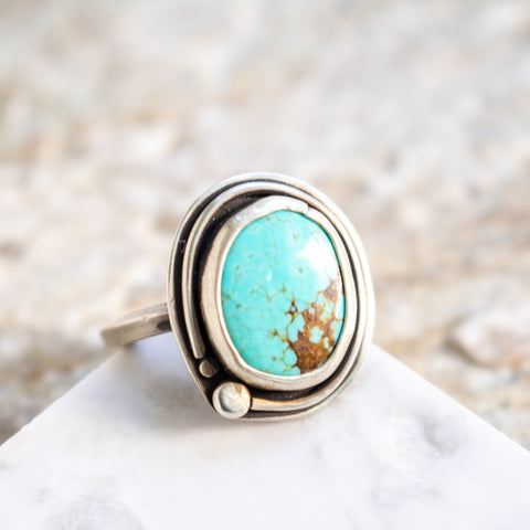 Size 8.75 | No. 8 Turquoise Ring